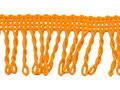 Franje band gedraais oranje 32 mm breed, per meter