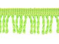 Franje band gedraaid groen 32 mm breed, per meter