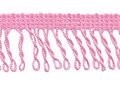 Franje band gedraaid roze 32 mm breed, per meter