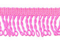 Franje band gedraaid fel roze 32 mm breed, per meter
