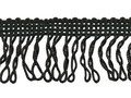 Franje band gedraaid zwart 32 mm breed, per meter