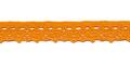 Gehaakt kant oranje 11 mm breed per meter