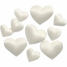 Satijnen hartjes off white