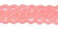 Gehaakt kant elastisch 22 mm breed zalm roze per meter