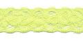 Gehaakt kant elastisch 22 mm breed geel per meter