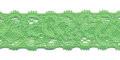 Gehaakt kant elastisch 22 mm breed groen per meter