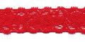 Gehaakt kant elastisch 22 mm breed rood per meter