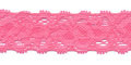 Gehaakt kant elastisch 22 mm breed roze per meter