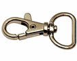 Musketonhaak sleutelhanger zilver kleurig 20 mm 5 stuks per zakje