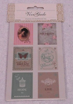 Deco stickers brocante stijl
