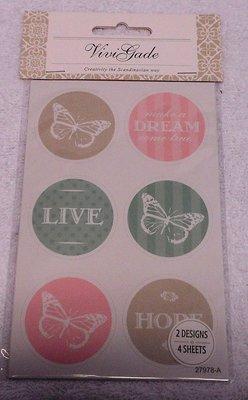 Deco stickers brocante stijl 2