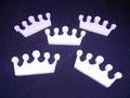 Piepschuim kroontjes 12 x 6 cm 1 cm dik 5 stuks set