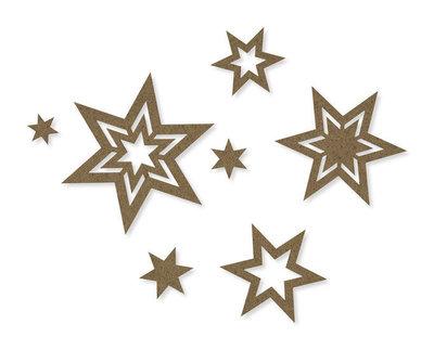 Vilt sterren sierlijk licht bruin per zakje