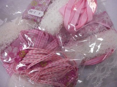 Lint assorti zakje roze wit
