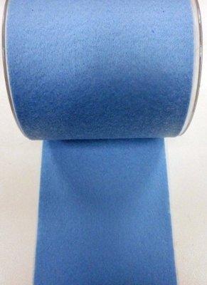 Vilt band 10 cm breed lichtblauw per meter
