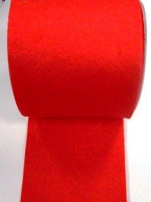 Vilt band 10 cm breed rood per meter