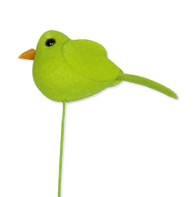 Vogeltje op steker 4,8 x 2 cm per stuk