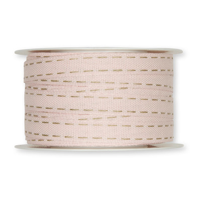 Stiksel band creme 12  mm breed per meter
