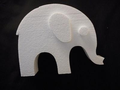 Piepschuim Olifant middel 25 x 20 x 4 cm