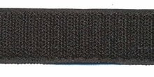 Klittenband zwart 25 mm breed haak en lus per meter