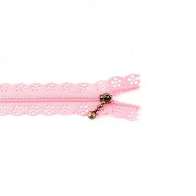 Rits bloemen roze 25 cm lang per stuk
