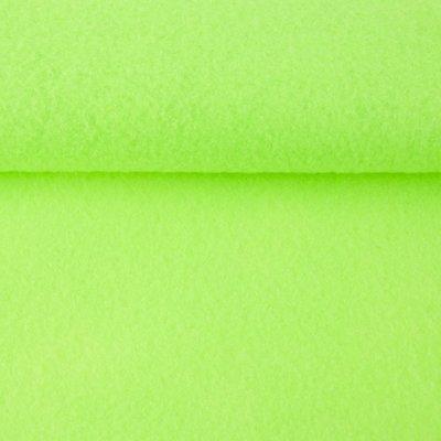 Vilt fluor groen 1,5 mm dik 90 cm breed per meter