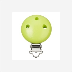 Houten speen clip fel groen