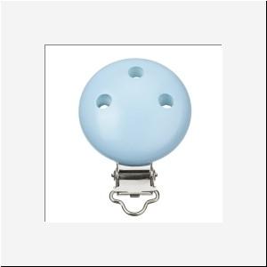 Houten speen clip licht blauw