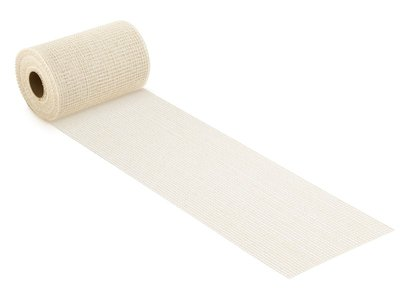Jute band creme 17 cm breed per meter
