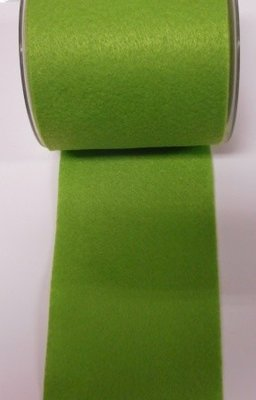 Vilt band 10 cm breed groen per meter