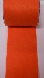 Vilt band 10 cm breed oranje per meter