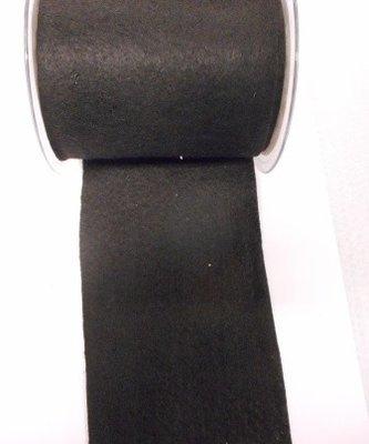 Vilt band 10 cm breed zwart per meter