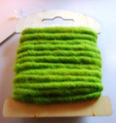 Wolkoord fel groen 5 mm dik 5 meter per streng