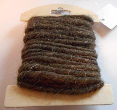 Wolkoord bruin gemeleerd 5 mm dik 5 meter per streng