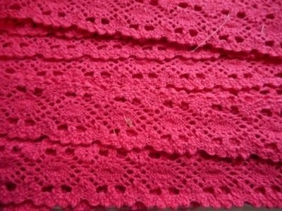 Kant fuchsia 25 mm breed per meter