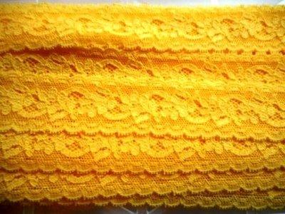 Elastisch kant geel 30 mm breed per meter
