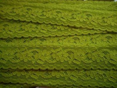 Elastisch kant groen 30 mm breed per meter