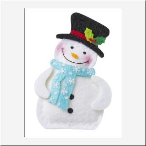 Sneeuwman vilt per stuk
