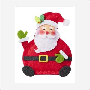 Kerstman van vilt per stuk