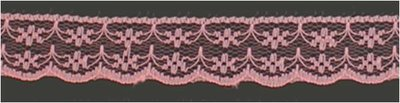 Kant 20 mm breed roze per meter