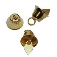 Belletjes klokvormig goudkleurig 16 mm 10 stuks per zakje