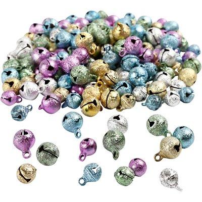 Belletjes metallic assorti 9 en 11 mm 20 stuk per zakje
