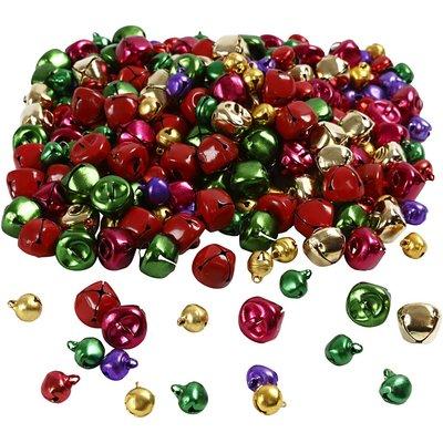 Belletjes metallic kerst assorti 10 en 14 mm 20 stuk per zakje