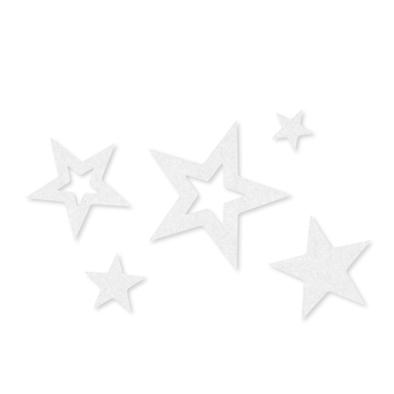 Vilt sterren wit assorti 25 stuks per zakje