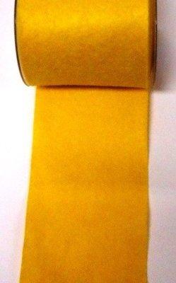 Vilt band 10 cm breed ocker geel per meter