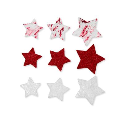 Foam figuren assorti ster rood 20 stuks per zakje