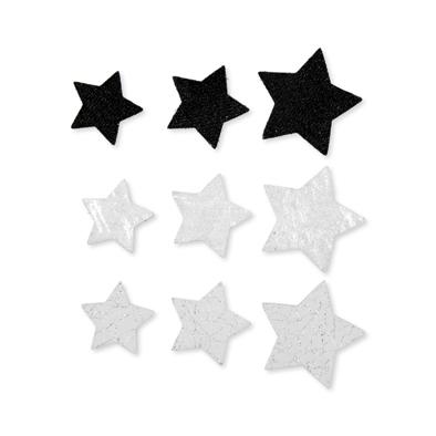 Foam figuren assorti ster zwart 20 stuks per zakje