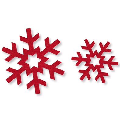 Vilt ijssterren rood 12 stuks per zakje