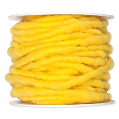 Wolkoord geel op rol 10 meter per rol