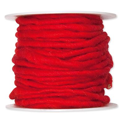 Wolkoord rood op rol 10 meter per rol